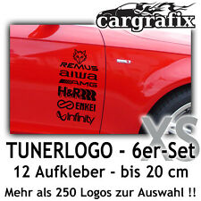 Tuner Logo Aufkleber Sponsoren Marken Decals Car Tuning Styling Sticker Set