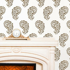 India Paisley Allover Wall Decorative Stencil for Walls Painting Room Decor