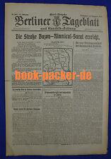 BERLINER TAGEBLATT (16.12.1916): Die Straße Buzau-Rimnicul-Sarat erreicht