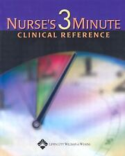 Nurse's 3-Minute Clinical Reference by . 1582551790 Hardcover Book. Very Good Co