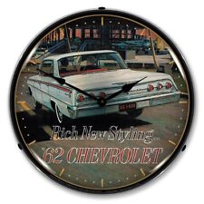 New old style 1962 Chevrolet Impala LIGHT UP clock 1949 - 1977 car clocks also