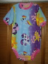 Adult baby one piece fleece bodysuit by Dependeco (my little pony) custom size