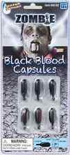 Zombie Black Blood Capsules Makeup Fancy Dress Halloween Adult Costume Accessory
