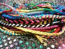 Lot of  50! Random Friendship Bracelets Fishtail Rainbow Love Hippie Peace