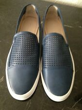 NEW RARE Calvin Klein Jeans Perforated Slip On Minerva Leather Sneaker Size 11