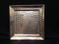 """Old Dutch vintage Solid Copper hand-hammered Square Tray  11""""  Safe for food use"""