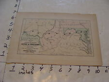 vintage map Johnson's Cyclopaedia: CENTRE OF POPULATION west virginia
