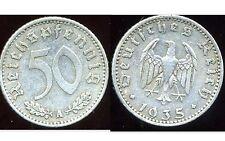 ALLEMAGNE  WW2  50  reichspfennig  1935 A