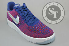 NIKE AIR FORCE ONE AF1 ULTRA FLYKNIT LOW PRM 826577-601  GYM RED BLUE SIZE: 10