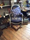 19Th Century Painted Shabby Chic Library Bedroom Fireside Armchair Christmas