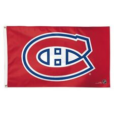 MONTREAL CANADIENS LOGO 3'X5' DELUXE FLAG BRAND NEW FREE SHIPPING WINCRAFT