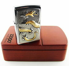 ZIPPO Feuerzeug GOLDEN SNAKE Limited Edition Nr. 0161/1000 Rosenholzbox NEU