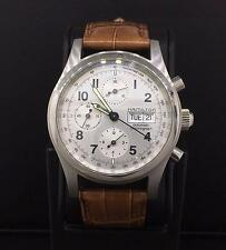 Hamilton Automatic Chronograph Steel 42mm Day-Date Silver Dial 000085