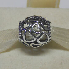 New Authentic Pandora Charm 790964 Open Heart Valentine Bead Box Included