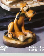 Disney Pluto miniature w bone Woodcarving Anri made in Italy 1 & 1/4 Inches