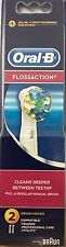 ORAL B TRIUMPH FLOSSACTION ELECTRIC TOOTHBRUSH HEADS