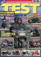 RM Test 99 + REISE MOTORRAD Special 1999: alle wichtigen Motorräder