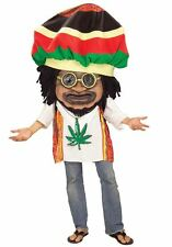 RASTA MON oversize adult funny pot jamaica mens halloween costume ONE SIZE