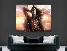 SAMURAI GIRL ASIAN WARRIOR FANTASY  COMIC ART PICTURE PRINT LARGE HUGE