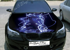 DJ Abstract Full Color Graphics Adhesive Vinyl Sticker Fit any Car Bonnet #094