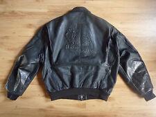 Vintage Leather Jacket Embossed Harley Davidson Eagle