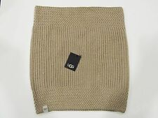 New tag Womens UGG Australia Beige Nyla Textured Cable Knit Wool Snood Scarf OS