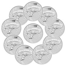 2016-P Tuvalu $1 1 Oz Silver Star Trek - Enterprise - Lot of 10 Coins SKU41764