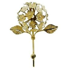 Pretty LooK Off-White Metal Flower Wall Hook with Leaves. Hang jackets,coats,key