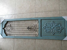 ONE distressed rustic wood and Iron panel wall/door/window/ceiling light/grate
