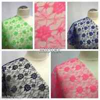 """Budget Flower Lace Fabric (Per Metre) Midtex M184 45"""" Clothing, Floral M184 Mtex"""