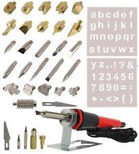 NEW 35Pc Wood Burning Pen Set Wood Burning Soldering Chiseled Tips Hot Blade