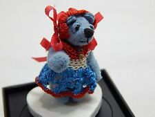 "World of Miniature Bears 1"" Ultra Suede Bear Tessie #1109 Collectible Bear"