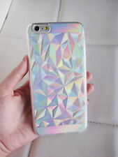 US seller iPhone 7 case clear holographic geometric crystal iridescent phone