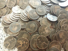 Victoria Pennies 50 coin 1895 to 1901  BRONZE PENNIES 50 bulk lot