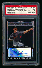 2007 BOWMAN STERLING MADISON BUMGARNER RC BLACK REF AUTO #01/25 1/1! 1ST AUTO!