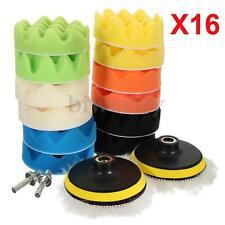 16pcs 4'' Sponge Polishing Foam Waxing Buffing Pads Kit Compound Auto Car Drill