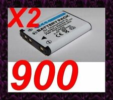 "★★★ ""900mA"" 2X BATTERIE Lithium ion ★ Pour Pentax Optio W30"