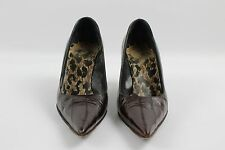 Dolce & Gabbana Brown Leather Pointy Toe Heels Size 39/9