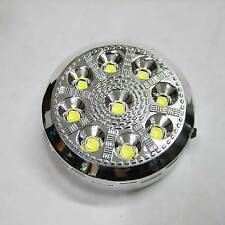 Interior Light Lamp 9 Led On/Off Switch 12v Car Round Ceiling Dome Roof