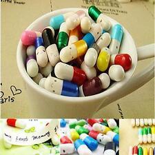 Message in a Bottle Message #E Capsule Letter Cute Love Half Color Pill 50Pcs