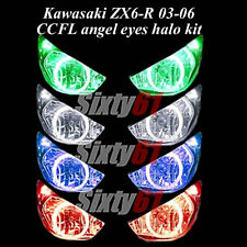 Kawasaki ZX6R 2003 2004 2005 2006 CCFL Demon Angel Eyes Halo lights rings kit