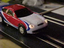 ARTIN 1/43 SLOT CAR Special Edition (SALE)TAURUS RED WHITE AND BLUE W/Headlights