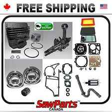 Fits STIHL TS400 CYLINDER PISTON CRANKSHAFT PREMIUM O-H REBUILD KIT+Tilotson kit