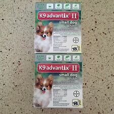 K9 ADVANTIX II FOR SMALL DOGS 8PACK 4-10 LBS NEWEST SEALED BOX EPA APPROVED USA