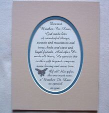 BROTHER IN LAW God Made Loyal FRIENDS Rare GIFT Loving TRUE verses poems plaques