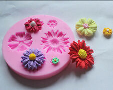 Silicone Cake Decorating Tool Soap Mold Flower Clay Fondant Sugarcraft Chocolate