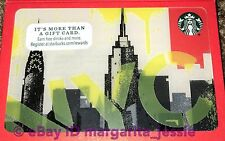 STARBUCKS GIFT CARD NYC 2016 NEW YORK CITY SKYLINE EMPIRE STATE BUILDING NO $