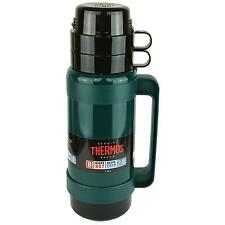 GENUINE Thermos 1L GREEN Mondial 32 Vacuum Flask Hot Cold Drinks Coffee Tea