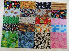 "100 4"" I SPY/NOVELTY KIDS Fabric Quilting Squares NO DUPS!"