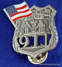 NYPD 9-11 POLICE OFFICER MINI BADGE PIN